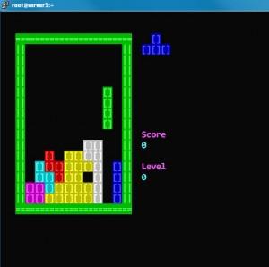 超级shell脚本写的俄罗斯方块游戏